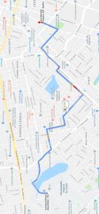Trajeto ônibus Pici - Porangabuçu - Benfica