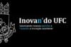A imagem contém fundo preto com brasão da UFC à esquerda em cor branca e texto centralizado. A frase central diz: Inovan´do UFC: valorizando novos talentos e fazendo a inovação acontecer.